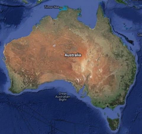 Australia Google Map