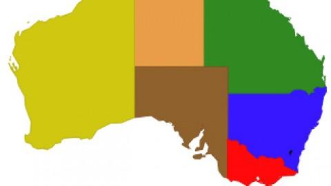australian states map