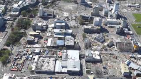 Christchurch CBD Aerial View 2015