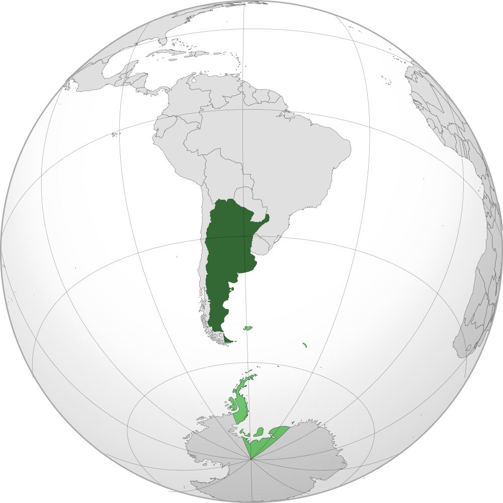 Argentina Location Map Geographic Media - Argentina globe map