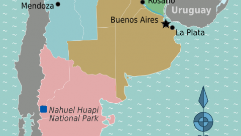 Argentina Location Map Geographic Media - Argentina regions map