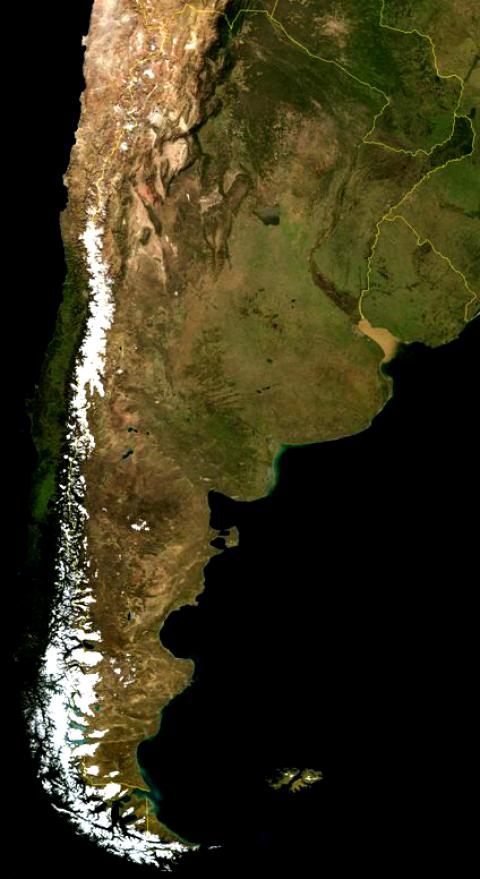 Argentina Satellite Image