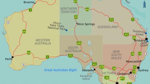 Australian Highways Map