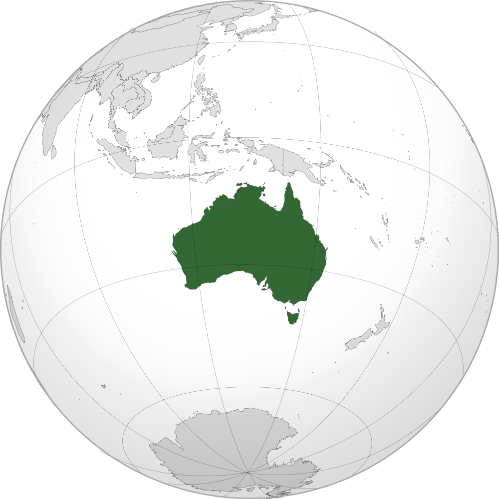 Australia Location Map Geographic Media