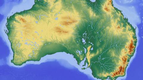 Australia Topographical Map