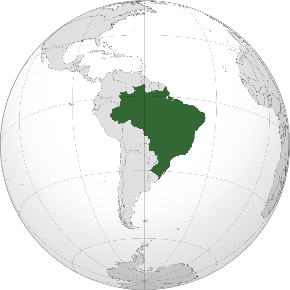 Brazil Location Map Geographic Media - Brazil south america map