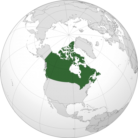 Canada Location Map