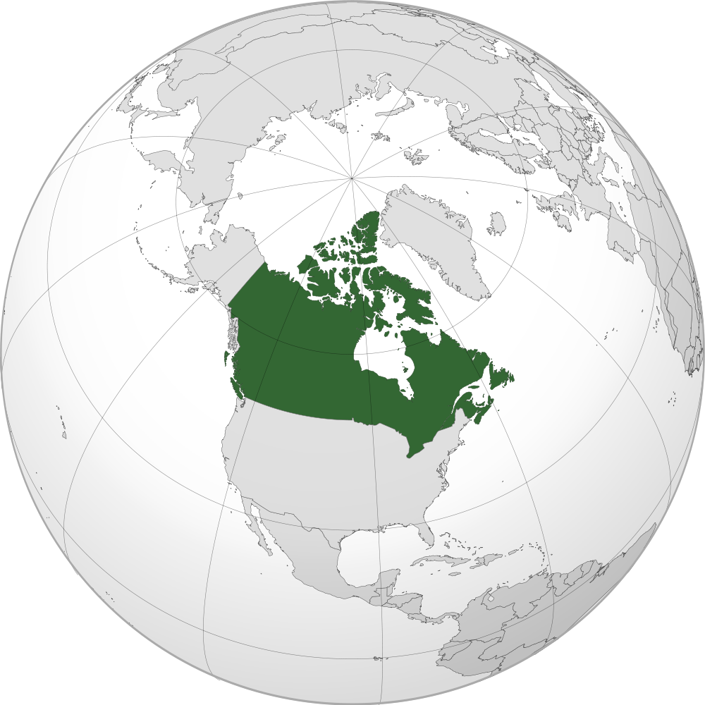 Canada Location Map Geographic Media