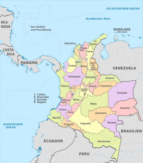 Departments of Colombia