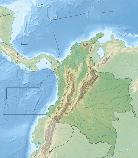 Colombia Relief Map