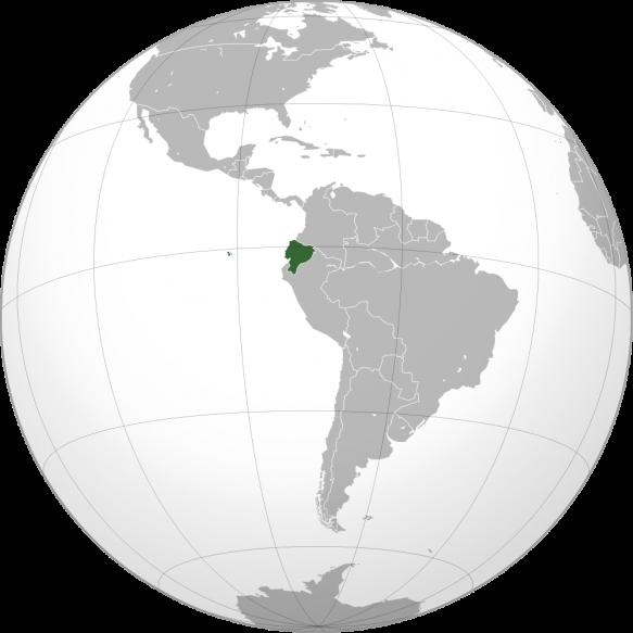 Ecuador Location Map Geographic Media