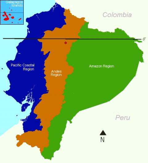 Ecuador Regional Map