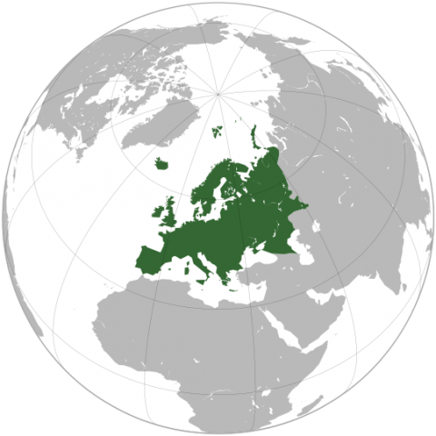 Location of Europe