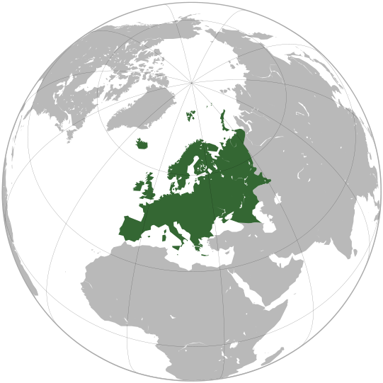 location of europe geographic media