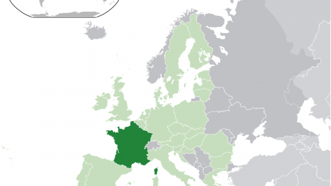 France Location Map