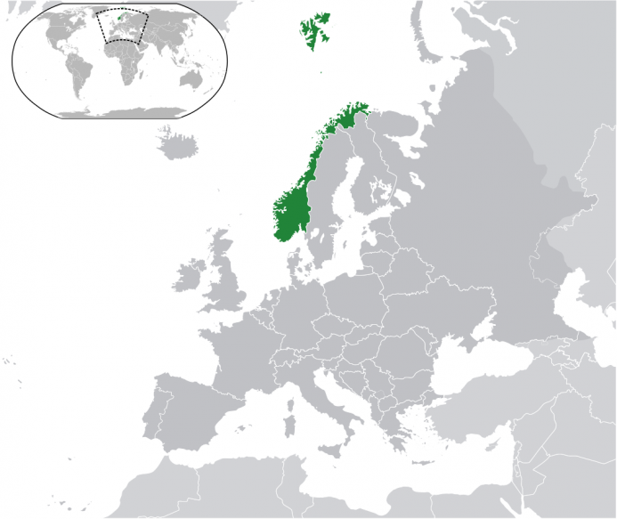 Location of Norway