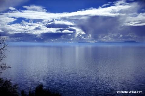 Overcast Lake Taupo