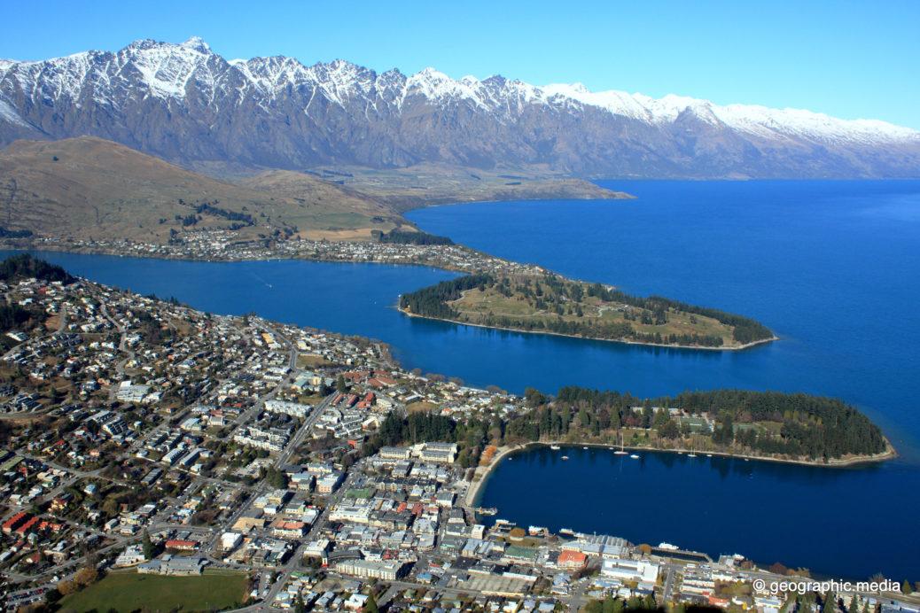 View of Queenstown in New Zealand