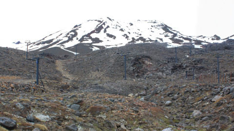Rocky slopes of Mt Ruapehu