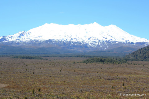 Mount Ruapehu in Tongariro National Park
