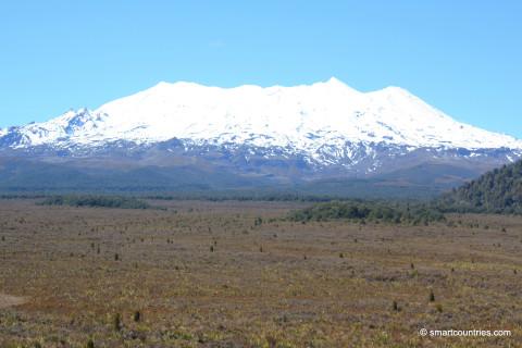 Mount Ruapehu in Tongariro National Park