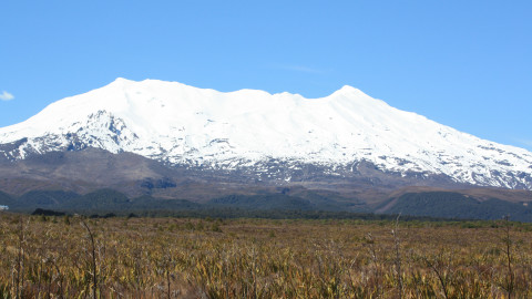 Snow capped Mt Ruapehu