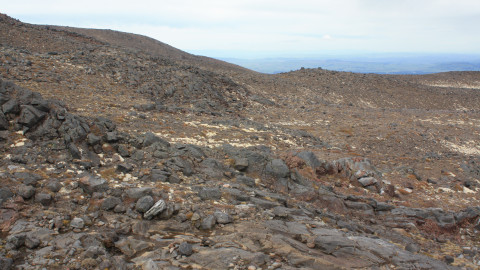 Lava slopes of Mt Ruapehu