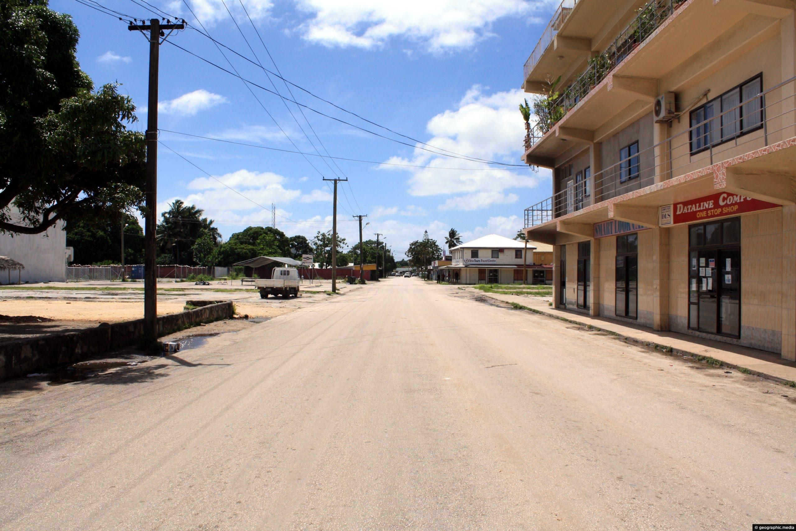 Deserted street in Nukualofa Tonga | Geographic Media
