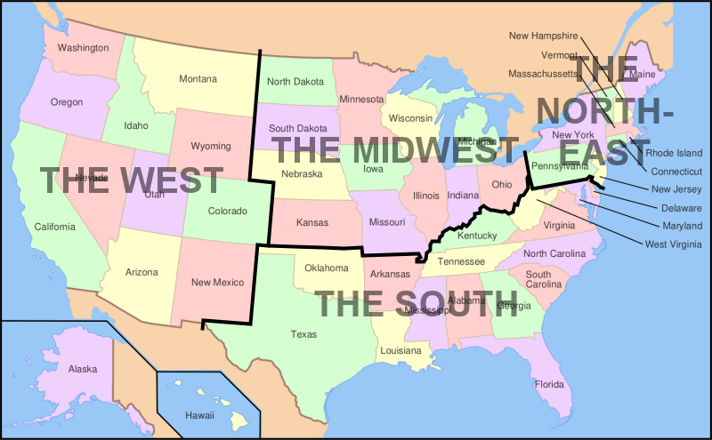 USA Regional Map – Map Usa North East