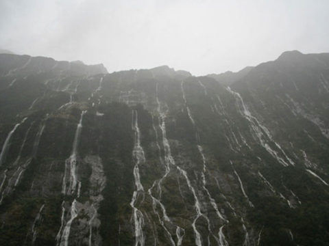 Rain at Fiordland National Park