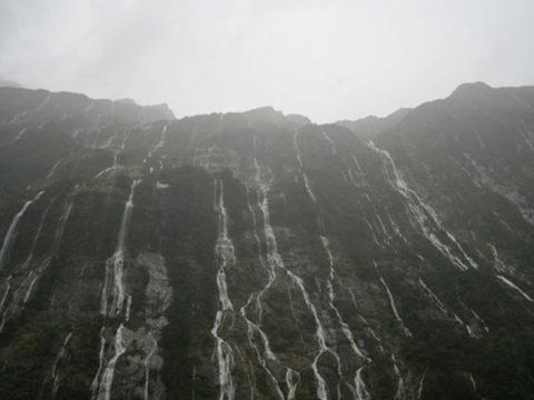 Rain at Fiordland National Park
